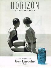PUBLICITE ADVERTISING 035  1993  GUY LAROCHE  HORIZON  eau toilette homme
