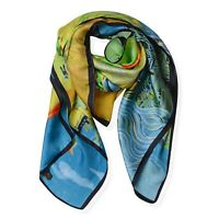 Marc Bouwer Glamit Fig Color silk scarf  New with Tag