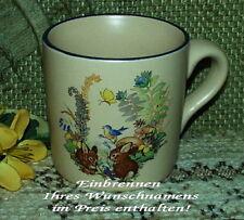 CK-DC-0055 - Tasse mit Motiv - Hasen / Ostern (1) - mit Wunschname