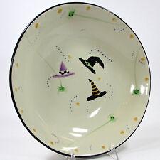 "Hartstone Pottery HOCUS POCUS 13"" Serving Bowl Halloween Spider Witch Hat Purple"