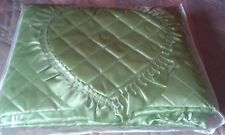 Lime Green thin quilted bed / furniture  cover will fir a double bed