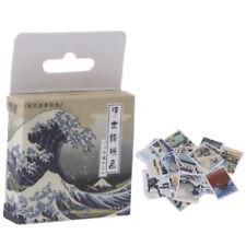 46PCS/set Retro Stamps Paper Sticker Kawaii Stationery DIY Scrapbooking Stickers
