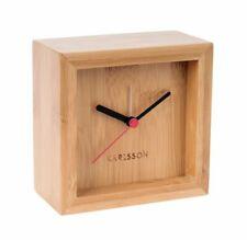 Karlsson Franky Bamboo Analogue Silent Alarm Clock, 10cm, Wood