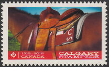 CALGARY STAMPEDE = SADDLE HORSE = DIE CUT booklet stamp MNH Canada 2012 #2547i