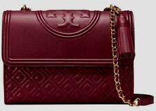 Tory Burch Fleming Convertible Shoulder Bag Purse - LARGE New - Port Royal
