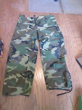 USGI Military BDU Woodland Gore-Tex Camo Pants Cold Weather Large Regular  EUC