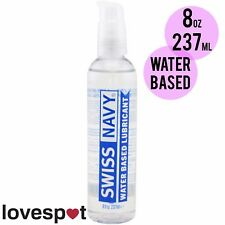NEW Swiss Navy Premium Water Based Lubricant Lube Sex Toys Safe 8oz/237ml