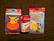 NIP Sealed Pokemon Halloween Party Invitations Cards Envelopes Birthday PIKACHU
