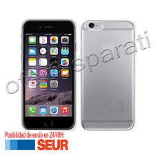 Funda de Silicona Gel Carcasa TPU para Iphone 6 6S.  Negro Transparente Liso