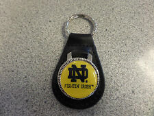 Notre Dame Fighting Irish Leather Key Ring