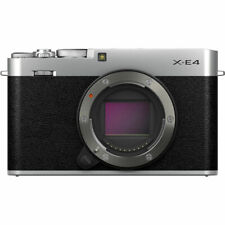 FUJIFILM X-E4 Mirrorless Digital Camera (Body Only, Silver)