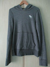 mens ABERCROMBIE & FITCH GREY COTTON HOODIE SIZE MEDIUM