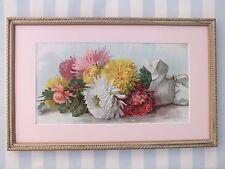 Paul DeLongpre*Fall Beauties*Flower*Victorian*1894*Original*Half Yardlong*Framed