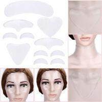 5x Silikon Anti Falten Gesicht Augen Stirn Pad Patch Wiederverwendbar Mode .ape