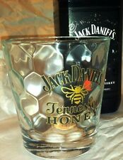 Jack Daniel's Tennessee Honey DOF Faceted Whiskey Glass, Bee Logo, Made in Italy
