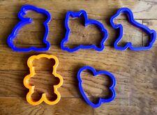 Cookie Cutters Wilton Puppy Dog Kitten Cat Teddy Bear Butterfly Bunny Rabbit Lot