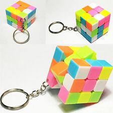 Magic Cube Pendant Keyring Educational Puzzle Toys Cute Cubo Key Chain Kid Adult