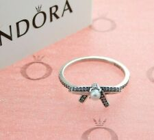 PANDORA Sterling Silver Delicate Sentiments Bow Ring with Pearl 190971P
