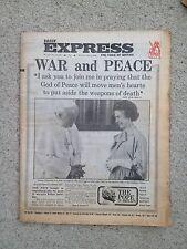 Daily Express Newspaper 28th May 1982. Falklands War. Pope John Paul II visit