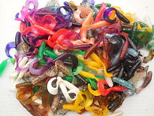 "200 - 2"" CURLY TAIL GRUBS - Plastic Fishing Lures! Panfish: Crappie, Bream, etc."