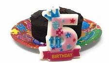 AEX 5th Birthday Candle Cake Topper Number Party Decor Bday Decoration Candles