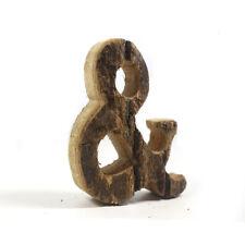 """Vintage Wood Alphabet Letter '&' Letters Sign Name Board Home Wedding Decor 4"""""""