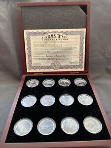 Titanic Boxed USA Kennedy Half Dollar Coin Set COA Rare Limited Ed. Set History
