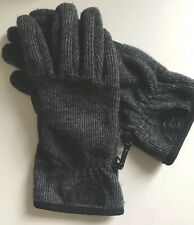 Timberland Gloves Fingers Touchscreen Shell Wool Black Grey Size L Vintage Top