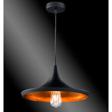 Design Lampe Suspension industrielle Plafonnier Métal plat