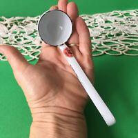 Vintage White Enamel Very Small Ladle Spoon Kitchen Tool