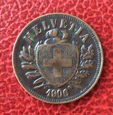 Suisse - Très Jolie et Rare monnaie de  2 Rappen  1906