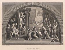 Raffaello Sanzio, Incendio del borgo, 1850 acquaforte