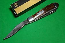 "3 1/2"" Imperial Schrade Mini Trapper Pocket Knife Acrylic Hdls SS Bld IMP17T"