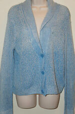 AMERICAN EAGLE OUTFITTERS Women's Sleeved Knit Blue Buttoned Sweater Size L NWT