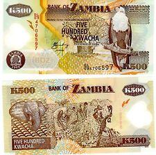 ZAMBIE Zambia Billet 500 Kwacha ( 2003 - 2009 )POLYMER AIGLE  UNC NEUF