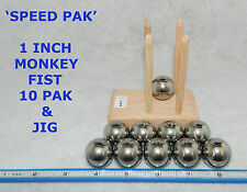 "MONKEY FIST JIG SPEED PAK 10 Tactical Core 1"" Steel Balls & Jig  Made in the USA"