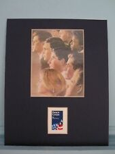 John F.  Kennedy starts The Peace Corps & its own stamp