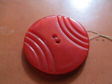 Vintage cherry red bakelite large round buttons