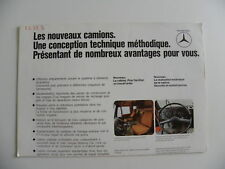 Brochure camion MERCEDES-BENZ les nouveaux camions de 07 / 1974