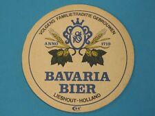 Vintage Brewery Beer Coaster ~ BAVARIA BIER ~ Lieshout, Holland ~ Founded 1719