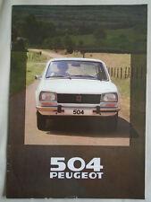 Peugeot 504 range brochure 1980