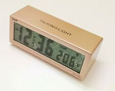Reloj Despertador Digital Parlante Voz En Español Control De Volumen - 4 Colores