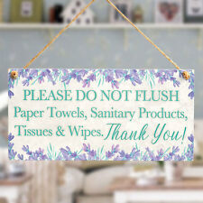 PLEASE DO NOT FLUSH.. Thank You Plaque Polite Septic Tank Plaque Toilet Sign WC