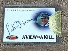 PATRICK MACNEE JAMES BOND 40TH ANNIVERSARY CASE TOPPER AUTOGRAPH CARD #A24