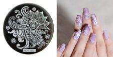 Arte de uñas imagen Planchas para Estampar placa Decoracion pavos reales Plumas Flores jeje 06