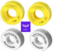 PTFE Plumbers Tape Gas or Water Thread Sealing Teflon Tape 12mm Plumbing PIPE
