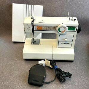 Toyota Model 2260 EC1 Series Sewing Machine with Pedal, Fully Working, Vintage