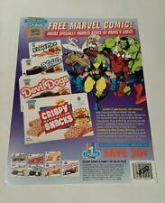 Marvel drake's cakes promo sheet (1), 1994