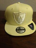 Las Vegas Raiders New Era 9Fifty Tonal Yellow   Snapback Hat Cap