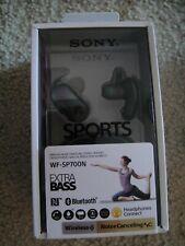 NEW Sony Wireless Noise Canceling Sports Earbuds Headphones WF-SP700N Black